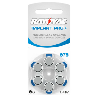 Piles auditives 675 Rayovac pour implant