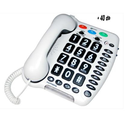 Téléphone Ampli Power 40 blanc Geemarc