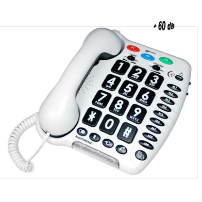 Téléphone Ampli Power 50 blanc Geemarc
