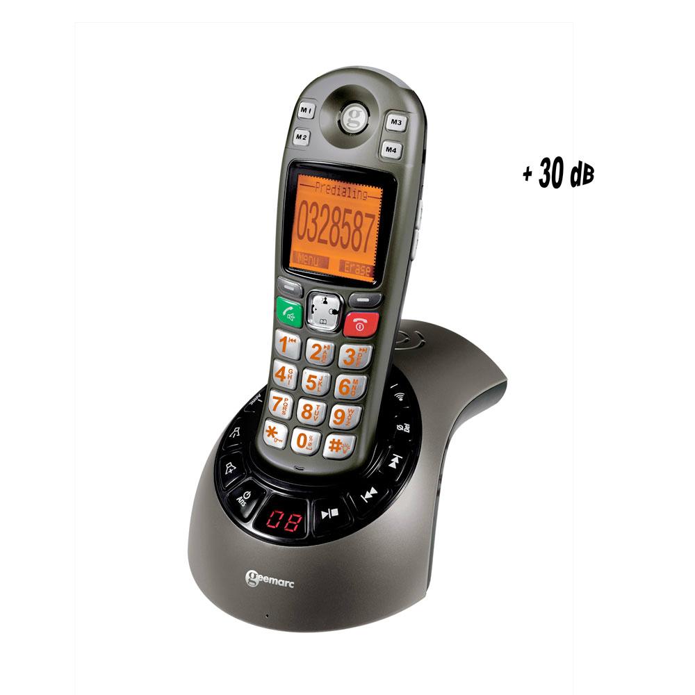 T l phone amplidect 285 t l phone amplifi num rique - Telephone filaire avec repondeur integre ...