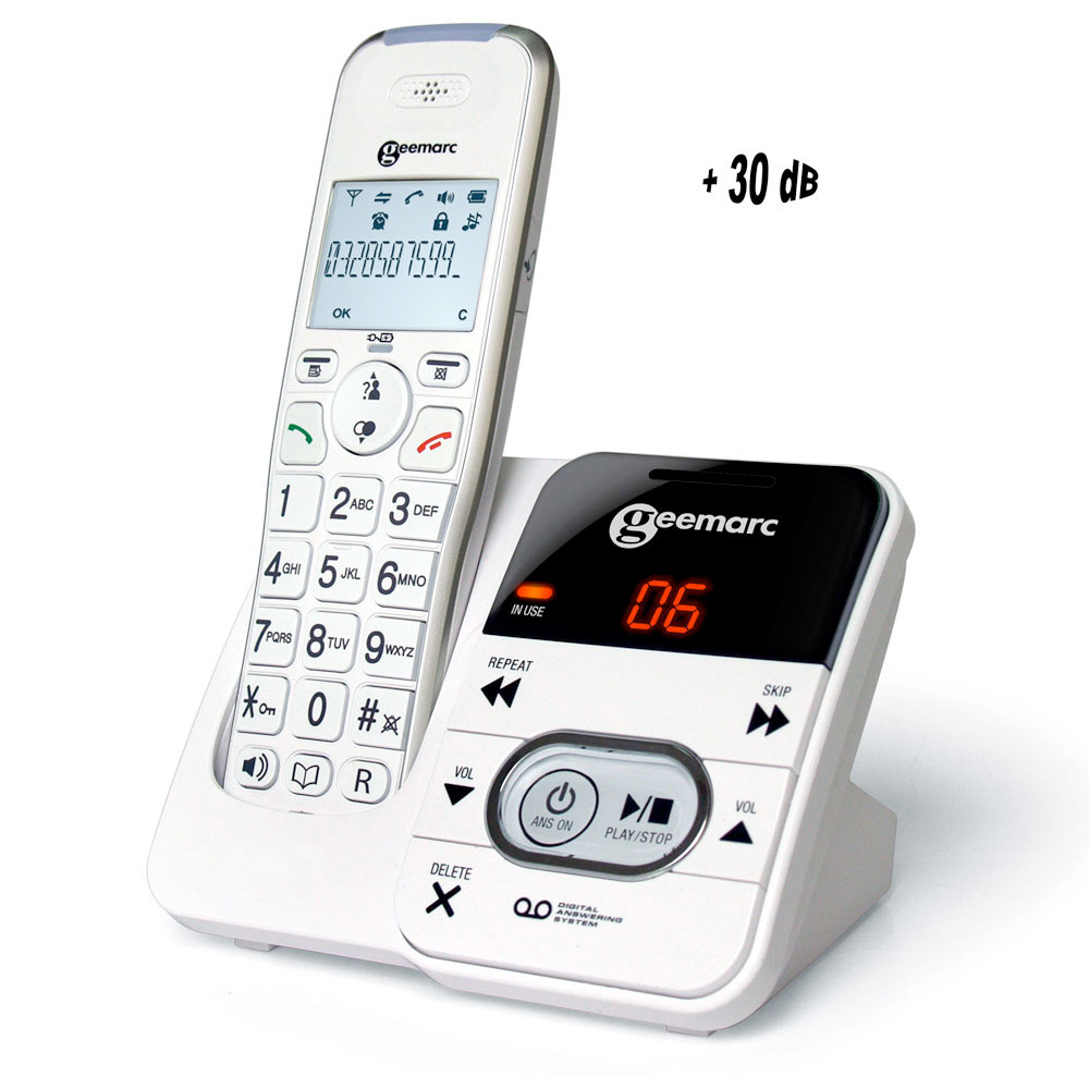 T l phone amplidect 295 sans fil avec r pondeur int gr - Telephone filaire avec repondeur integre ...